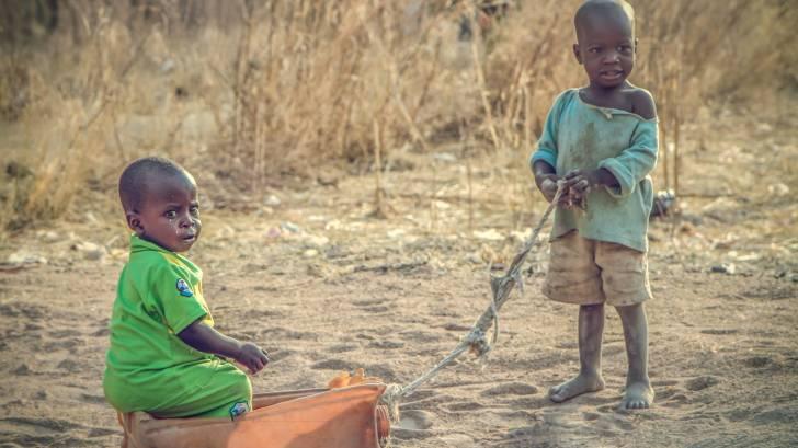 nigerian young children playing