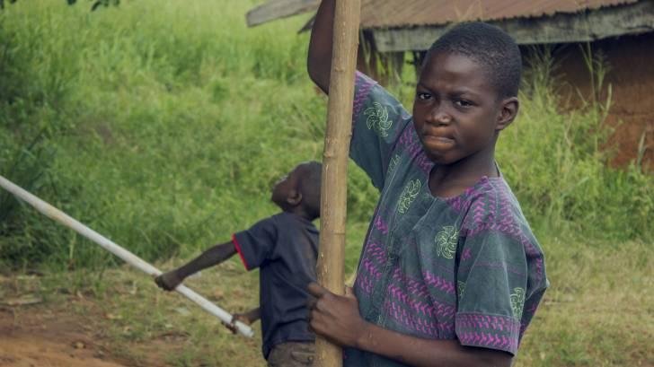 nigerian boys building