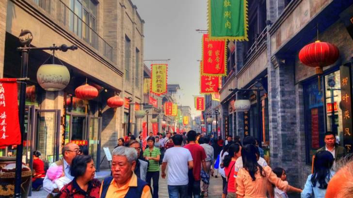 Older people walking in Beijing streets