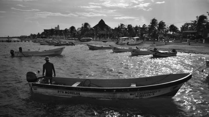 fishing boats in mexican cove