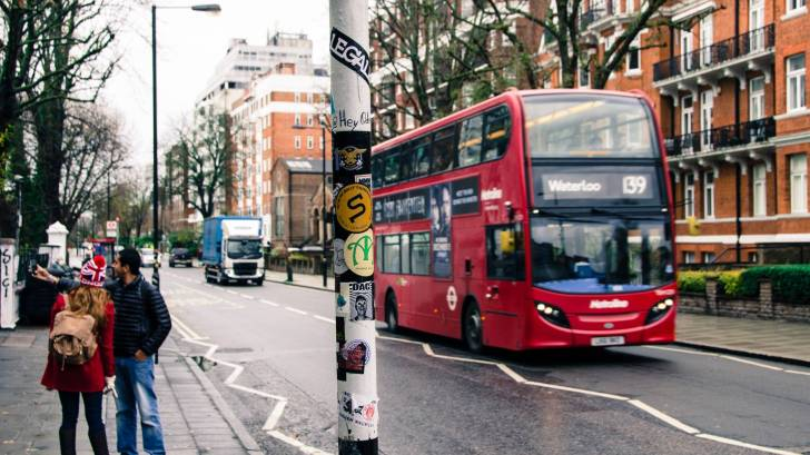 england double decker bus and people