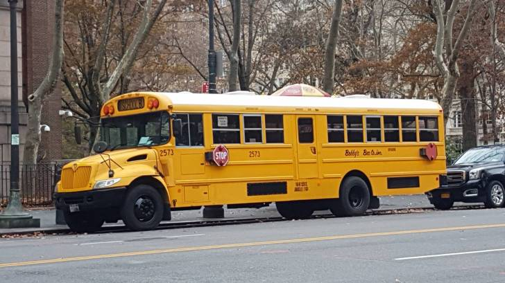 nyc school bus near central park