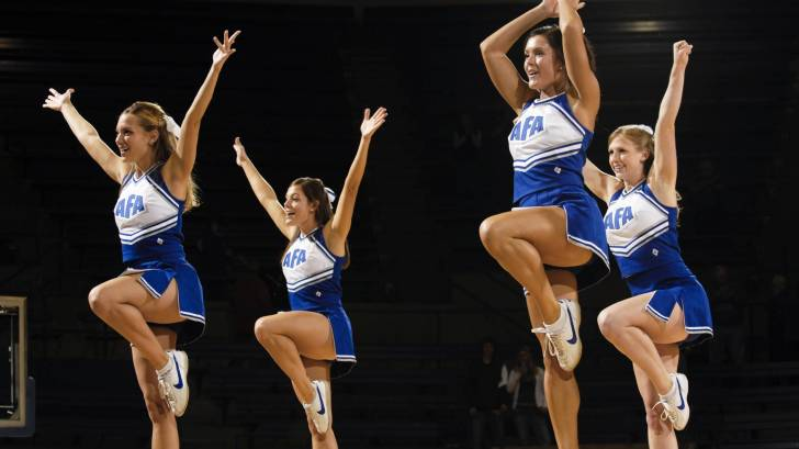 Cheerleaders at a competition