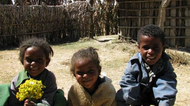 african children smiling