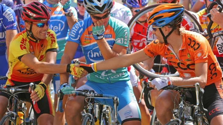 bike riders in a race