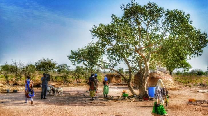 african village in ghana