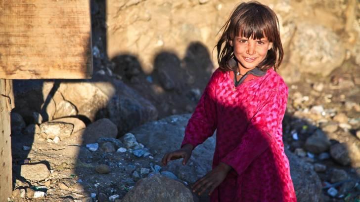 cute little girl in Afghanistan