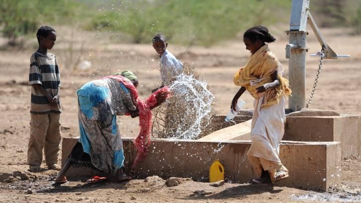 Ethiopia, water, children