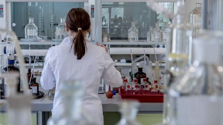 researcher in a lab