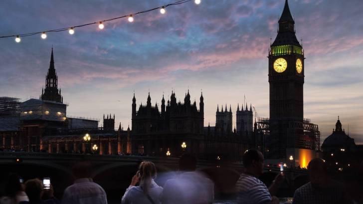 big ben at dusk in london