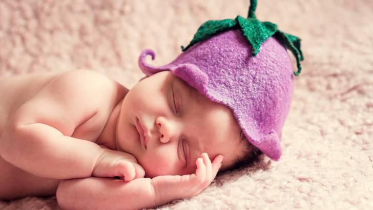 healthy little baby girl