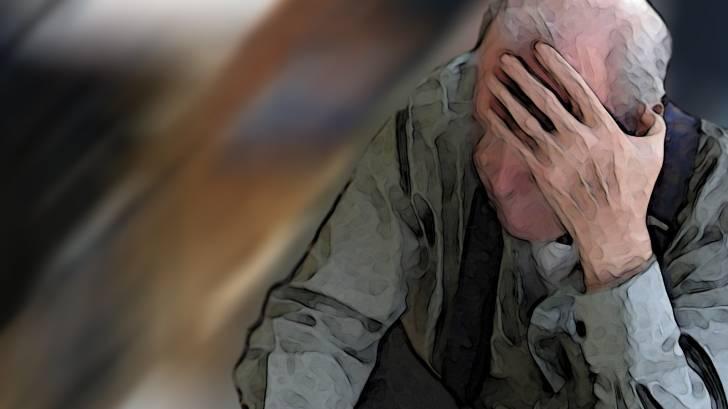 older man in retirement home