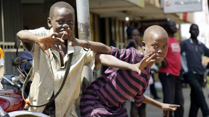 young children having fun