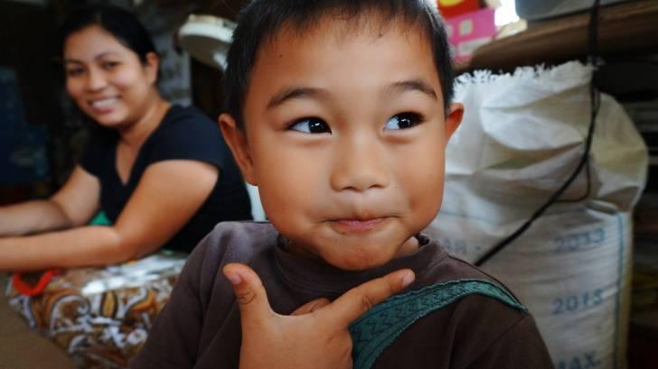 young filipino boy smiling