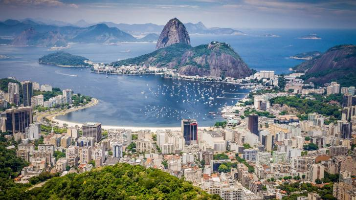 rio city from the air