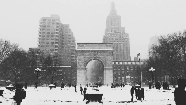 cold snow season  in NYC