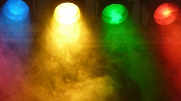 colored spot lights