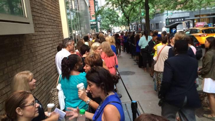 people in queue