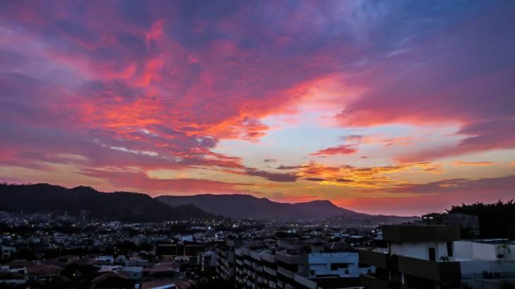 sunset on the equator