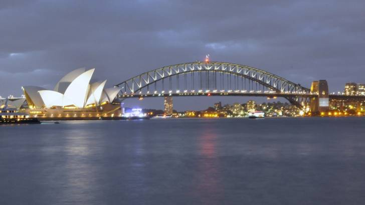 sydney harbor and bridge