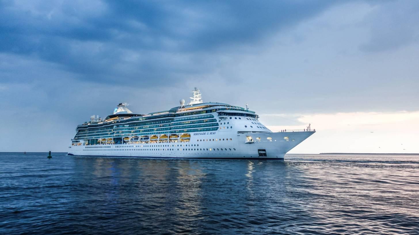 cruise ship on open seas