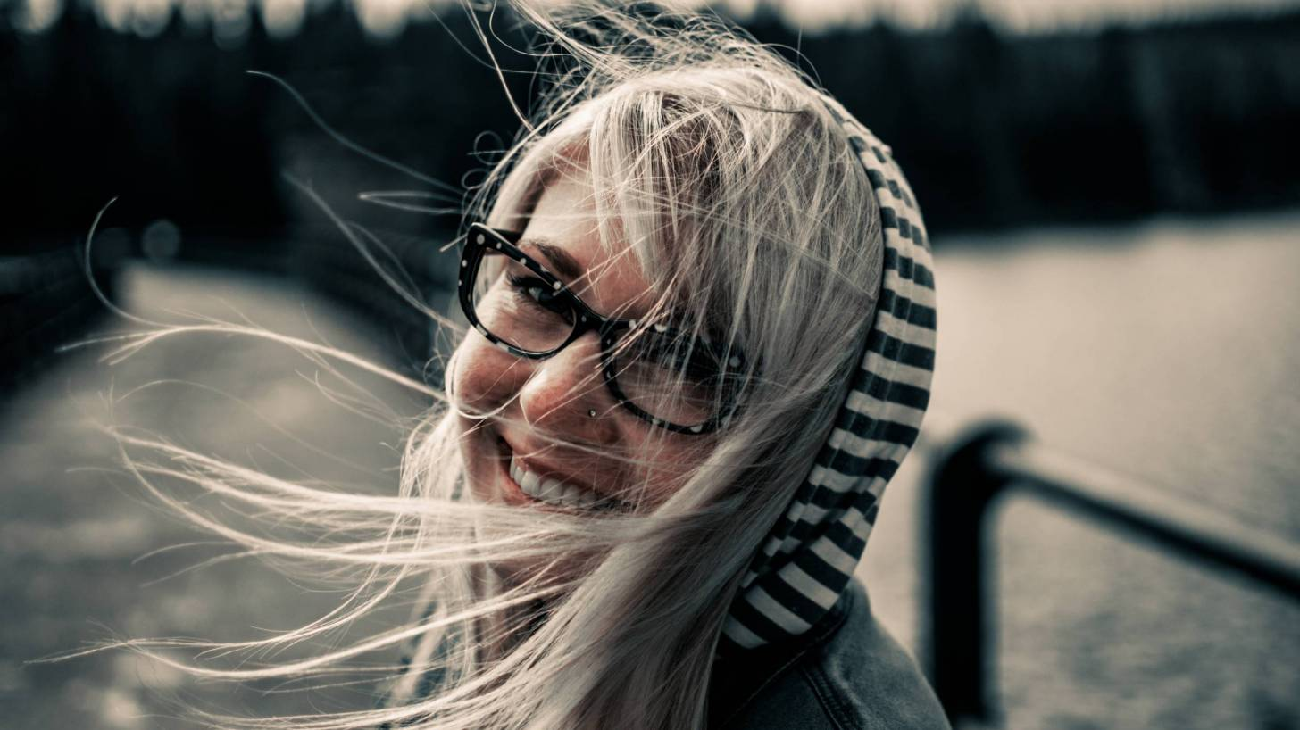 happy woman smiling healthy