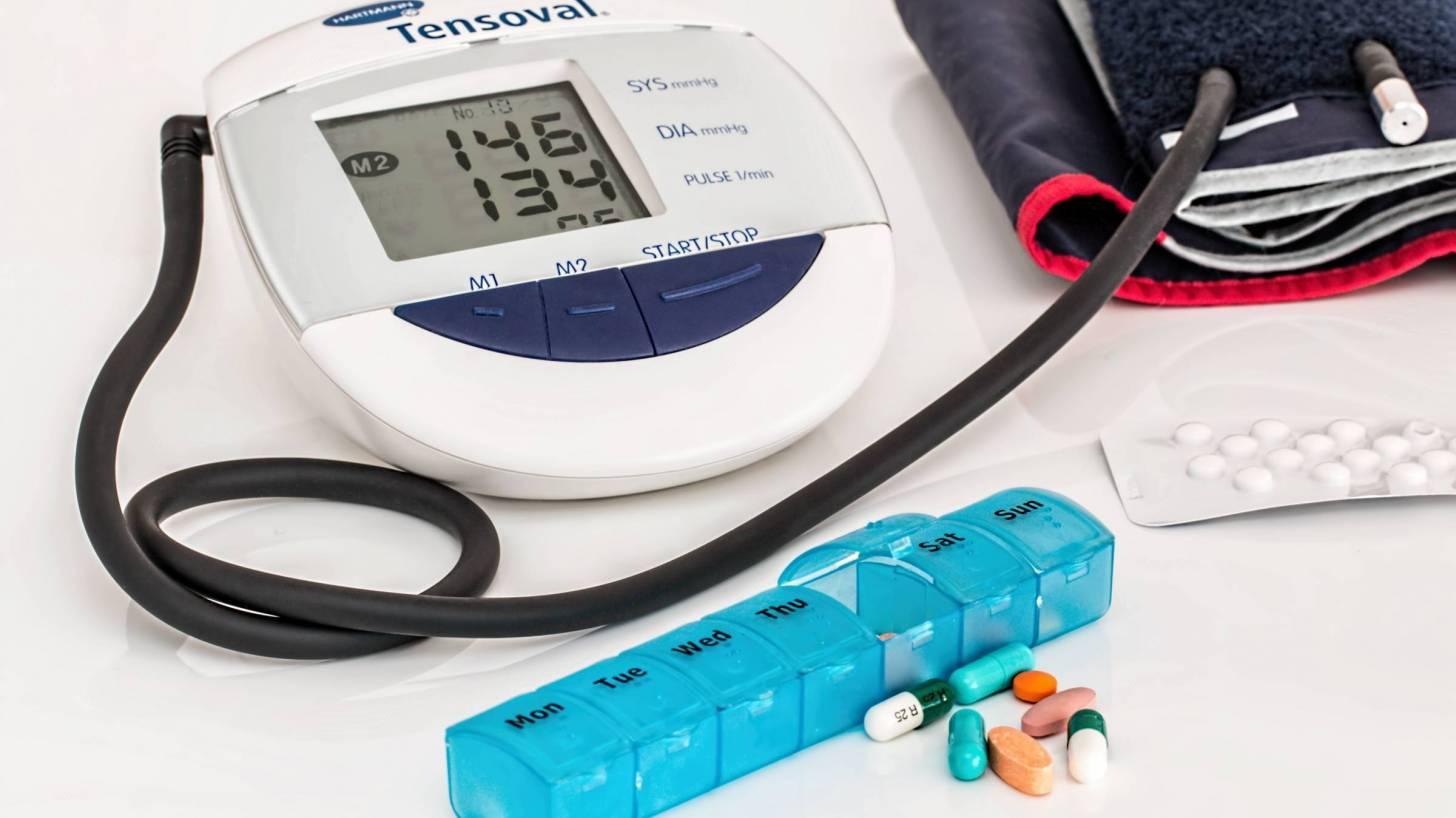 blood pressure monitor and meds