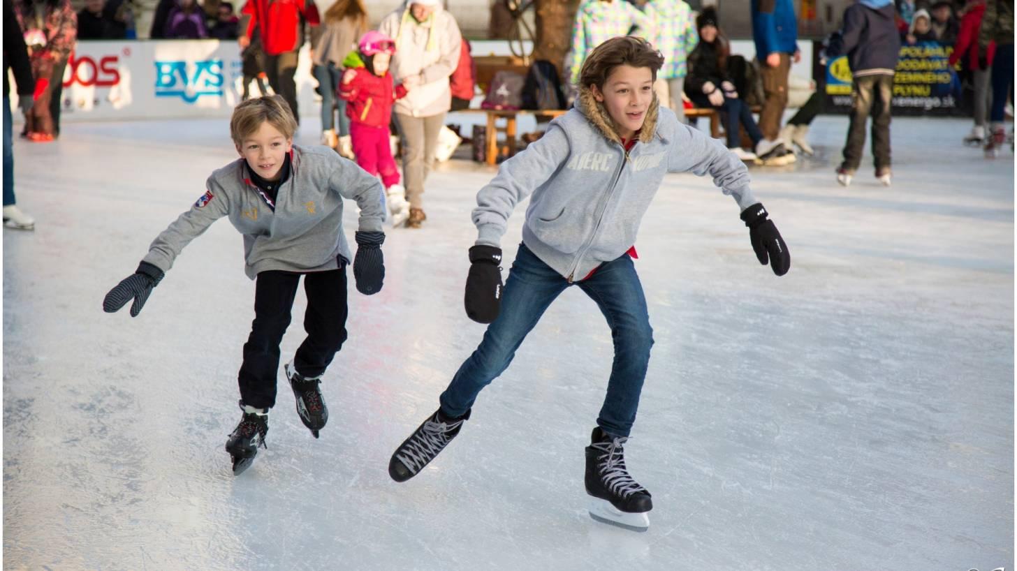 teen boys ice skating