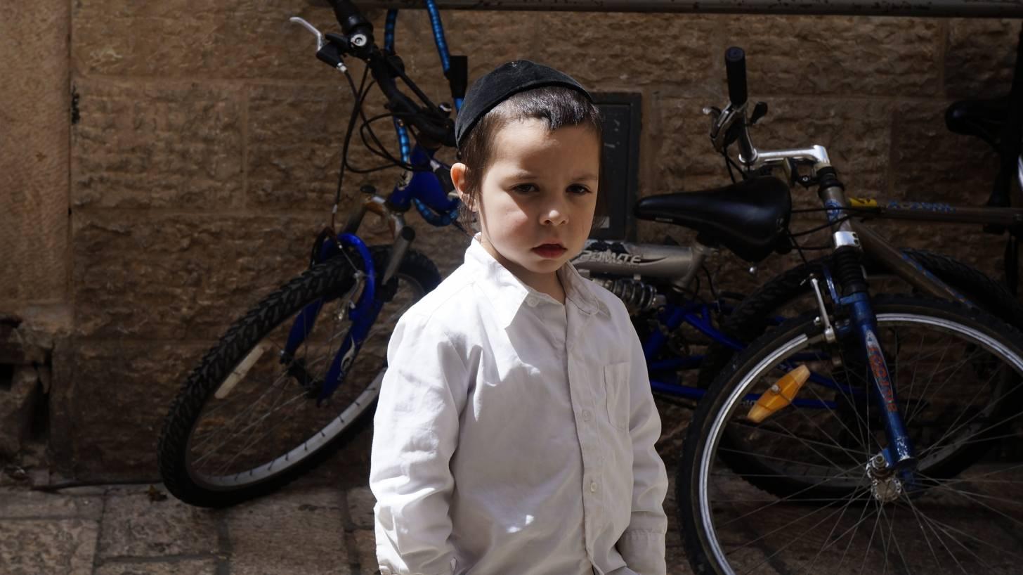 orthodox jewish little boy