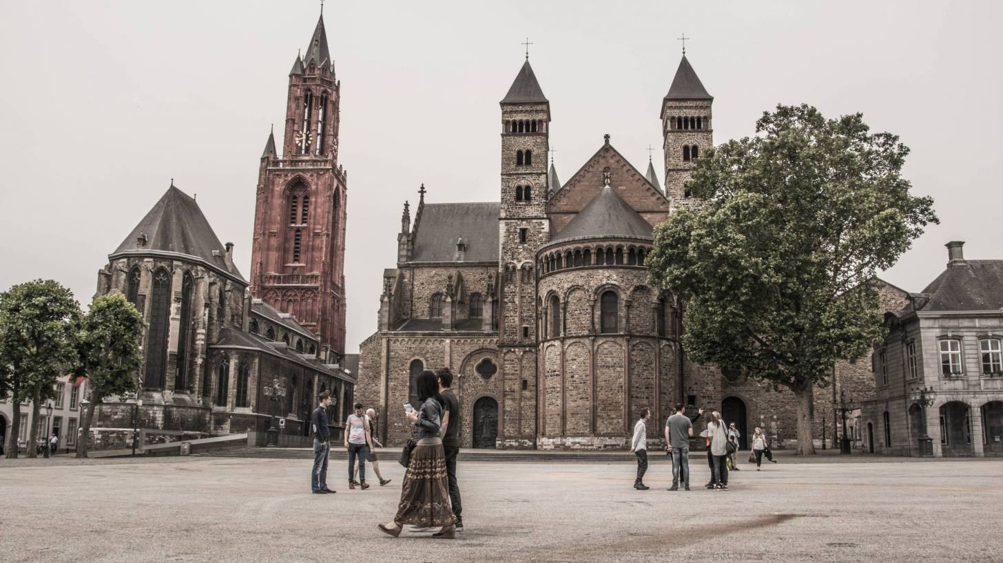 maastricht square in netherlands
