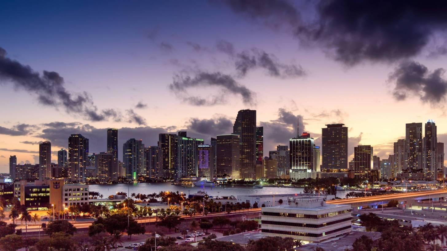 miami city at dusk