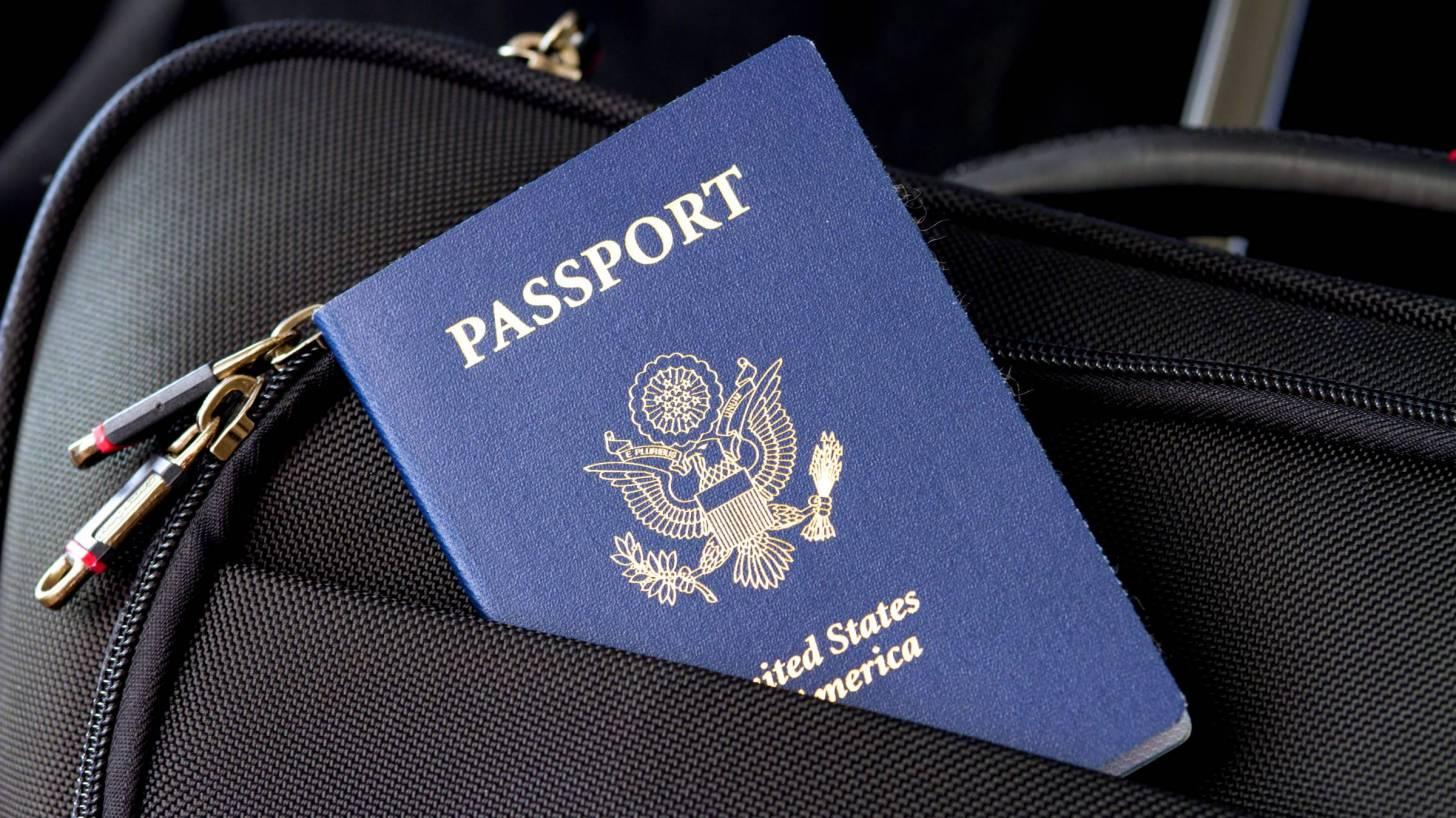 passport in suit case