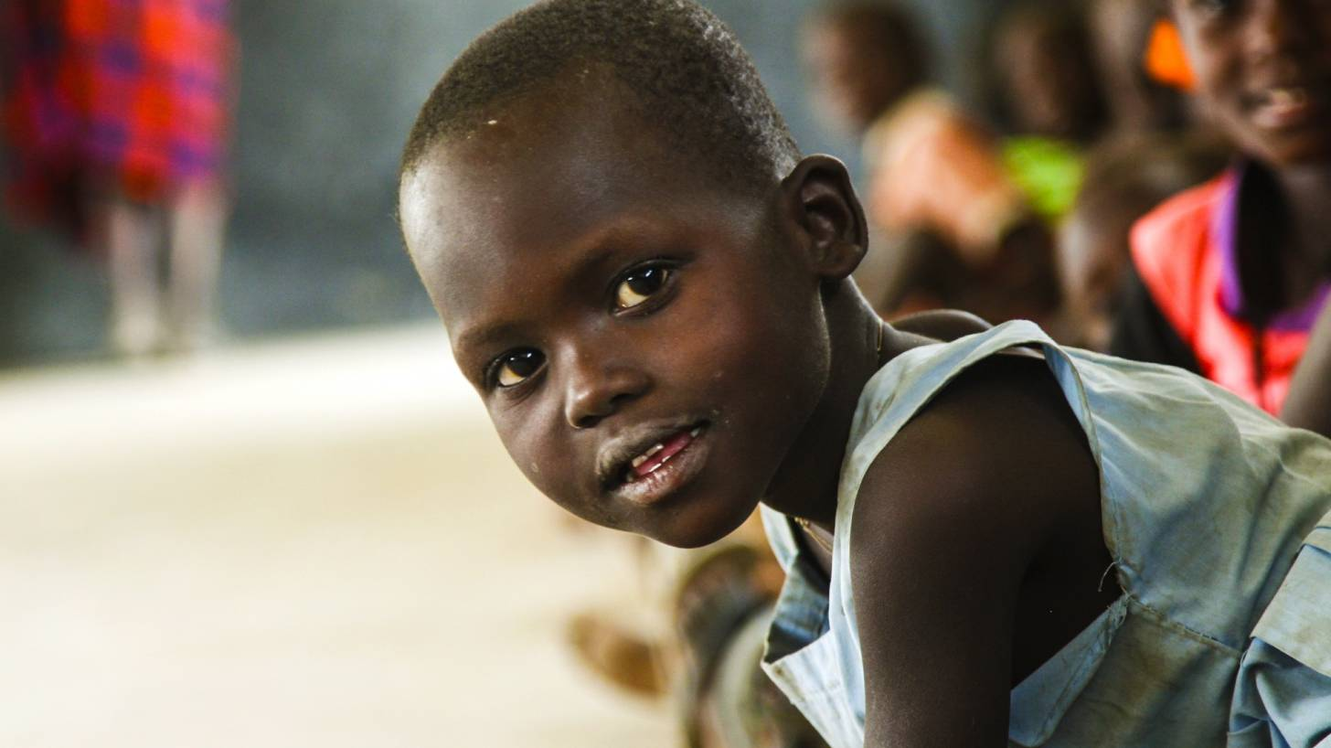 young african boy smiling