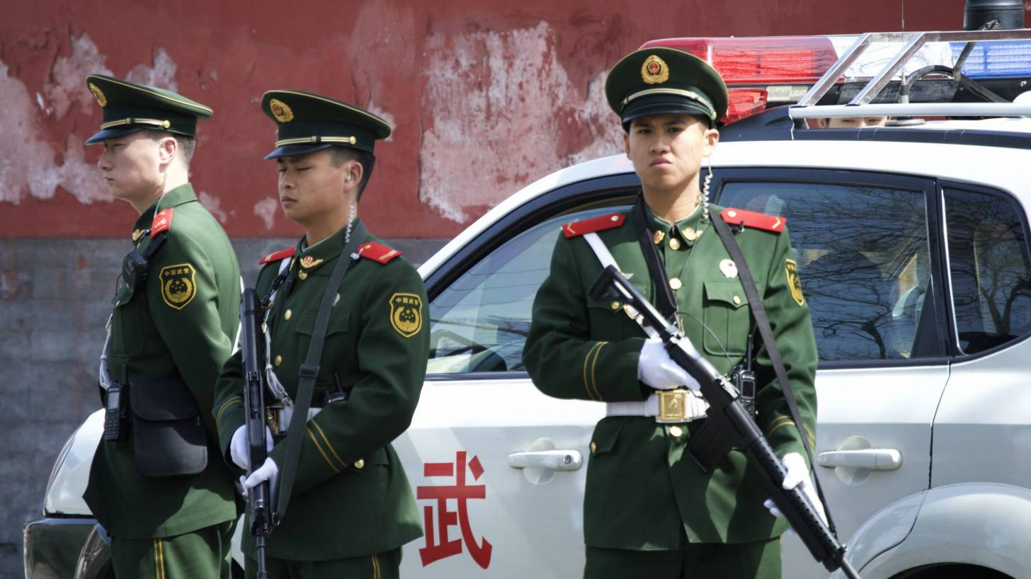 People's armed police in China