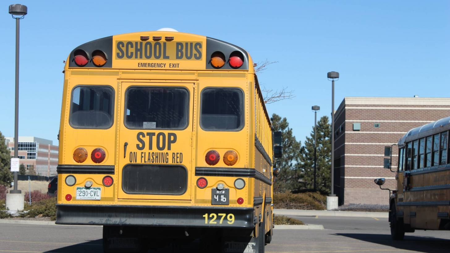 school bus in parking lot