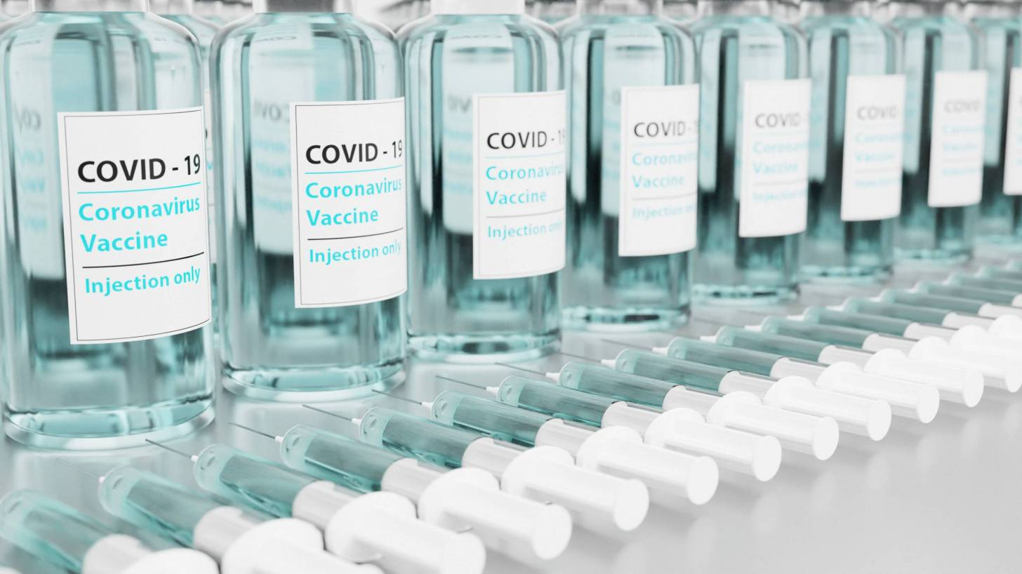 vaccine vials lined up ready for shipment