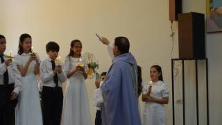 catholic service with children