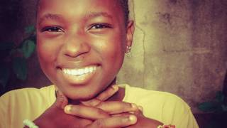 young african woman smiling