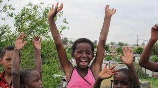 Happy african children celebrating