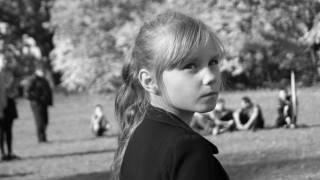 young girl looking upset