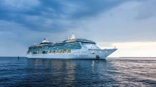 cruise ship on open seas