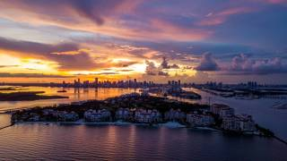 fisher island florida at sunset