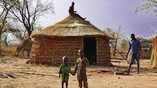 west africa village