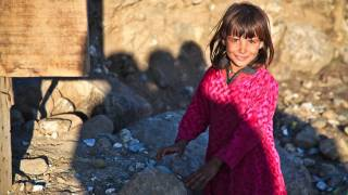 cute little girl in Afghanistan