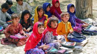 young children at a school in afghanistan