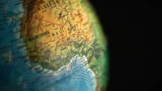 globe showing niger