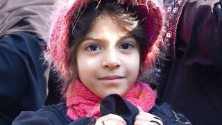 Iranian child smiling