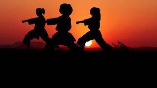 karate classes as the sun is setting