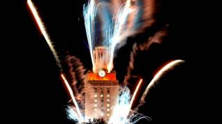 ut tower during a fireworks show