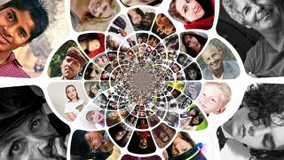 collage of people faces